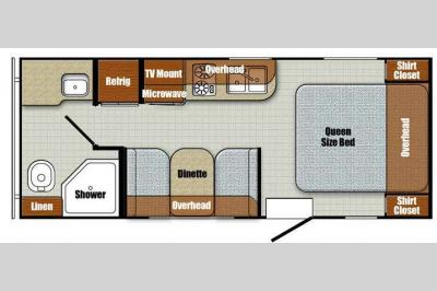 Floorplan - 2016 Gulf Stream RV Vista Cruiser 19RBS
