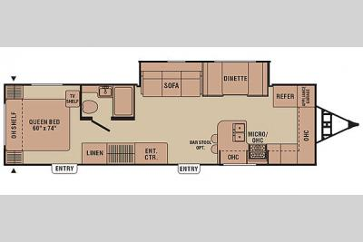 Floorplan - 2007 Coachmen RV Captiva 288 FKS
