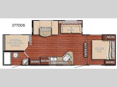 Floorplan - 2017 Gulf Stream RV Kingsport 277 DDS