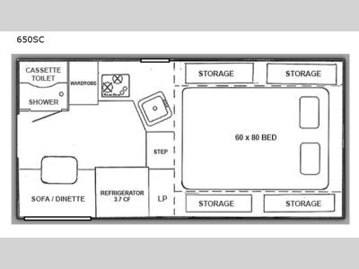 Floorplan - 2017 RC Willett Inc Northstar Pop-Up 650SC