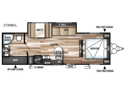 Floorplan - 2017 Forest River RV Wildwood X-Lite 272RBXL