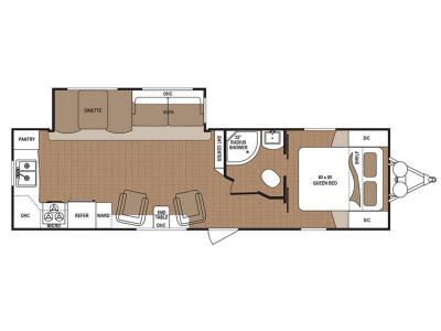Floorplan - 2017 Dutchmen RV Aspen Trail 2870RKS