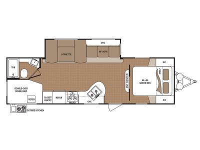 Floorplan - 2017 Dutchmen RV Aspen Trail 2750BHS