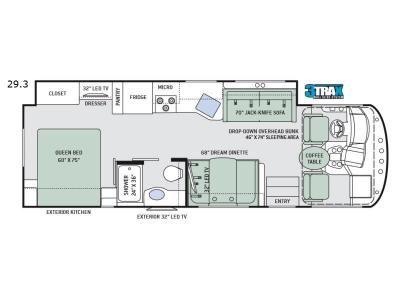 Floorplan - 2017 Thor Motor Coach ACE 29.3