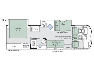 Floorplan - 2017 Thor Motor Coach ACE 29.4