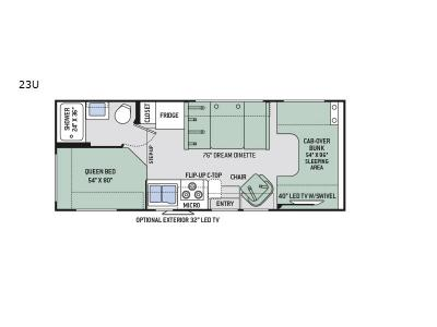 Floorplan - 2017 Thor Motor Coach Four Winds 23U