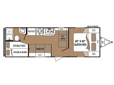 Floorplan - 2017 Dutchmen RV Aspen Trail 2710BH