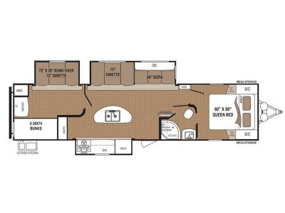Floorplan - 2017 Dutchmen RV Aspen Trail 3100BHS