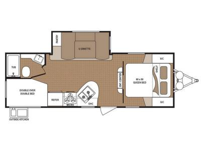 Floorplan - 2017 Dutchmen RV Aspen Trail 2340BHSWE