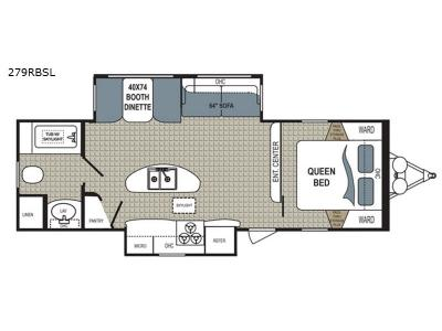 Floorplan - 2017 Dutchmen RV Kodiak Ultimate 279RBSL