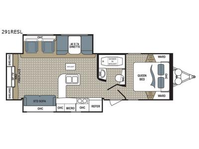 Floorplan - 2017 Dutchmen RV Kodiak Ultimate 291RESL