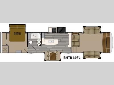 Floorplan - 2017 Heartland Bighorn Traveler 39FL