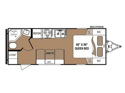 Floorplan - 2017 Dutchmen RV Aspen Trail 1900RB