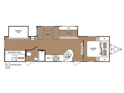 Floorplan - 2017 Dutchmen RV Aspen Trail 3010BHDS