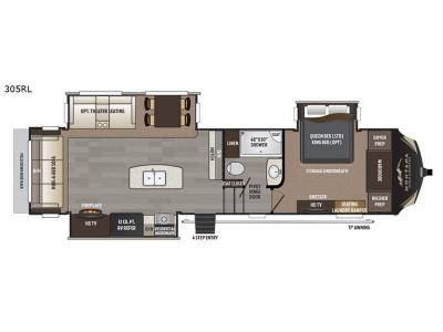 Floorplan - 2017 Keystone RV Montana High Country 305RL