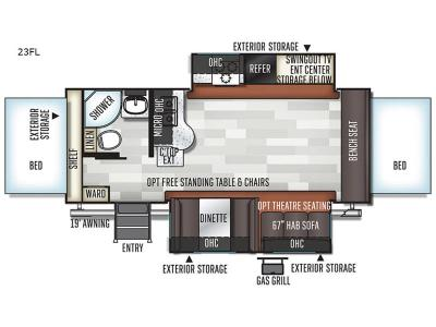 New 2020 Forest River RV Rockwood Roo 23FL Expandable at