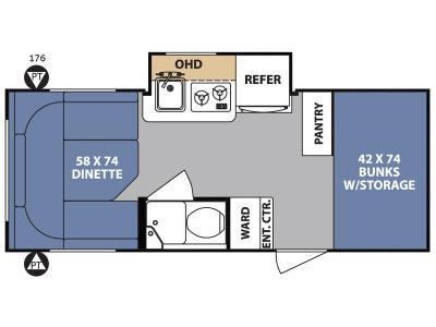 Floorplan - 2017 Forest River RV R Pod RP-176