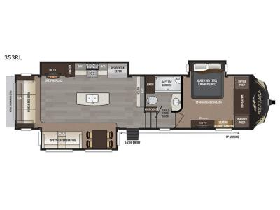 Floorplan - 2017 Keystone RV Montana High Country 353RL