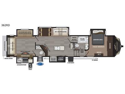 Floorplan - 2017 Keystone RV Montana High Country 362RD