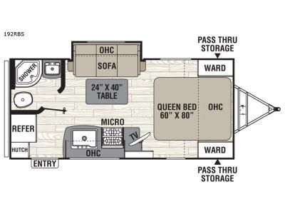Floorplan - 2017 Coachmen RV Freedom Express 192RBS
