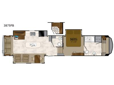 Floorplan - 2017 Heartland Bighorn 3875FB