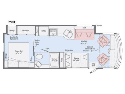 Floorplan - 2017 Winnebago Vista 29VE