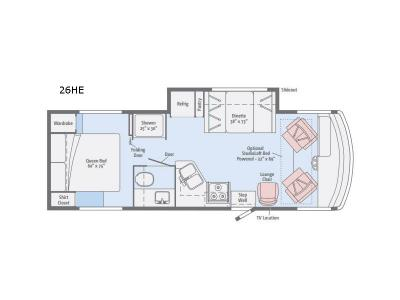 Floorplan - 2017 Itasca Sunstar 26HE