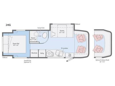 Floorplan - 2017 Winnebago View 24G