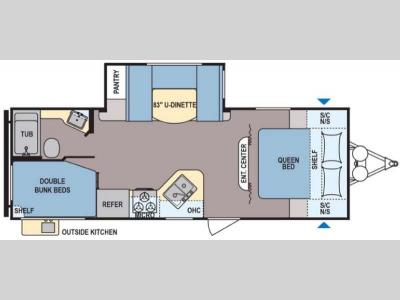 Floorplan - 2017 Dutchmen RV Coleman Lantern Series 244BH