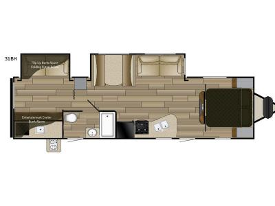 Floorplan - 2017 Cruiser Fun Finder XTREME LITE 31BH