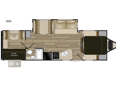 Floorplan - 2017 Cruiser Fun Finder XTREME LITE 28QB