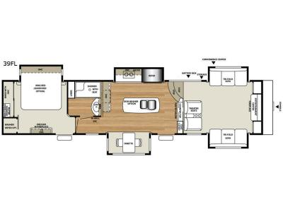 Floorplan - 2017 RiverStone 39FL