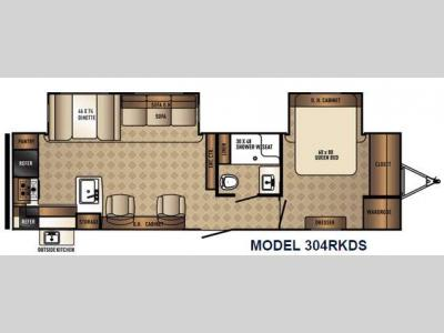 Floorplan - 2017 Palomino SolAire Ultra Lite 304RKDS