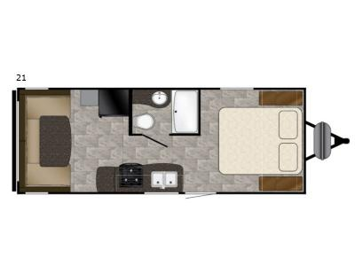 Floorplan - 2017 Heartland Trail Runner SLE 21