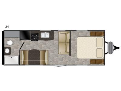 Floorplan - 2017 Heartland Trail Runner SLE 24