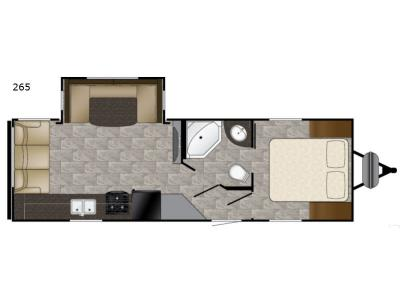 Floorplan - 2017 Heartland Trail Runner SLE 265