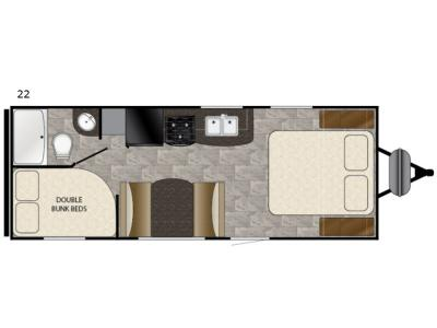 Floorplan - 2017 Heartland Trail Runner SLE 22