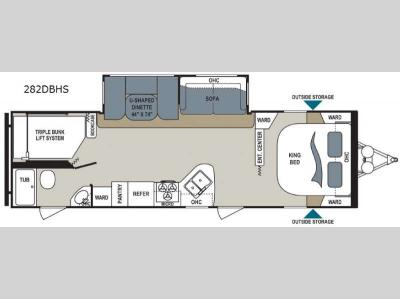 Floorplan - 2017 Dutchmen RV Aerolite 282DBHS