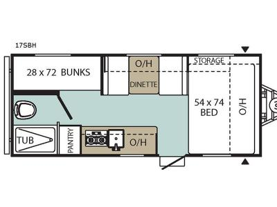 Floorplan - 2017 Coachmen RV Viking Saga 17SBH
