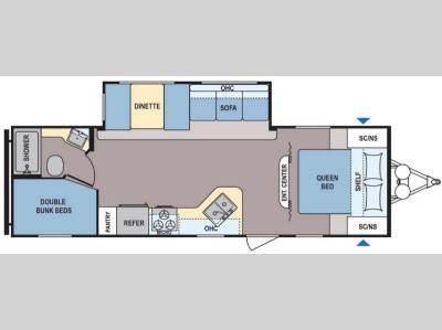 Floorplan - 2017 Dutchmen RV Coleman Lantern Series 262BH