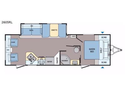 Floorplan - 2017 Dutchmen RV Coleman Light 2605RL