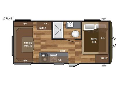 Floorplan - 2017 Keystone RV Hideout Single Axle 177LHS