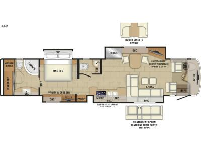 Floorplan - 2017 Entegra Coach Aspire 44B