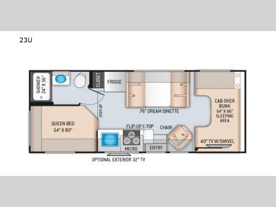 Floorplan - 2017 Thor Motor Coach Four Winds 23U Chevy