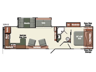 Floorplan - 2017 Gulf Stream RV Gulf Breeze Champagne Series 30RKS