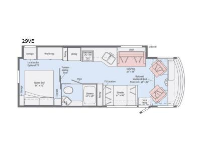 Floorplan - 2017 Itasca Sunstar 29VE