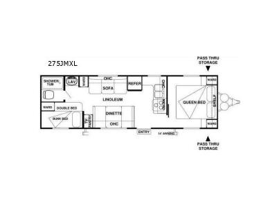 Floorplan - 2017 Forest River RV Wildwood X-Lite 275JMXL