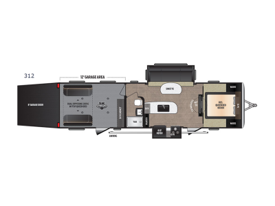 Floorplan - 2017 Keystone RV Impact 312