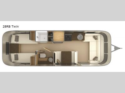 Floorplan - 2017 Airstream RV Flying Cloud 28 Twin