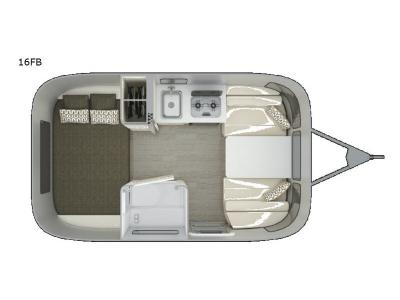 Floorplan - 2017 Airstream RV Sport 16